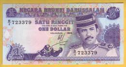 BRUNEI - Billet De 1 Ringgit. (1989-95). Pick: 13a. NEUF - Brunei