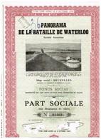 Action Ancienne - Panorama De La Bataille De Waterloo - Titre De 1953 - Titre N° 01462 - Spoorwegen En Trams