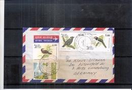 Cover From Sri Lanka To Germany - Birds (to See) - Sri Lanka (Ceylan) (1948-...)