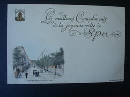 Spa : Les Meilleurs Compliments De La Joyeuse Ville De SPA Avant  1906 - Promenade De MARTEAU - Blegny