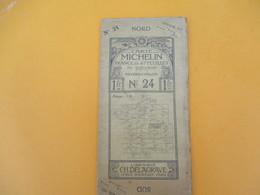 Carte MICHELIN /N° 24 Nevers-Chalon/ Ch Delagrave/ Paris/ Automobiles Renault Et Delaunay Belleville/ Vers 1905  PGC187 - Cartes Routières