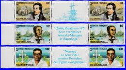 Polynésie 1988. ~ YT 318A à 320A** - Grands Missionaires Protestants - Ungebraucht