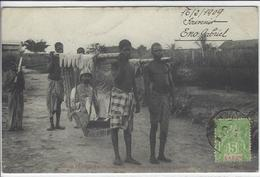 CPA Congo Afrique Noire Chaises à Porteurs Colon  Circulé - Congo Français - Autres