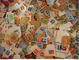 1000 Timbres De Grande Bretagne Issu De Courrier Sur Fragment - Vrac (min 1000 Timbres)