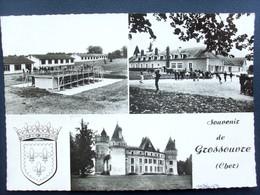 18 ,grossouvre  ,le Chateau Et La Colonie De Vacances De Lens En 1970...    Circulée  Timbrée.........cpsm...gf - Francia