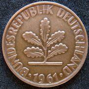 Germany 2 Pfennig 1961 G - [ 7] 1949-… : RFA - Rép. Féd. D'Allemagne