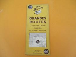 Carte Pneu Michelin/Grandes Routes/Serv.de Tourisme Michelin/Ligne De Démarcation/N°99/Schneider/Levallois/1940   PGC189 - Cartes Routières