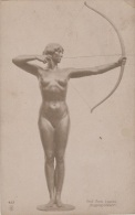 Sports - Tir à L'Arc - Chasse - Sculpture Femme Nue - Tir à L'Arc