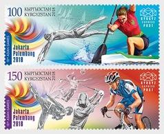 Kirgizië / Kyrgyzstan - Postfris / MNH - Complete Set Asian Games 2018 - Kirgizië