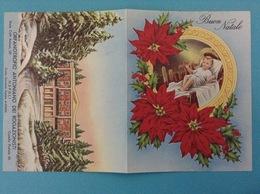 SANTINO CALENDARIETTO HOLY CARD - GESU' BAMBINO CALENDARIO 1961 ORFANOTROFIO ANTONIANO DEI ROGAZIONISTI NAPOLI - Calendars