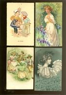 Beau Lot De 60 Cartes Postales De Fantaisie   Mooi Lot 60 Postkaarten Van Fantasie -  60 Scans - Cartes Postales