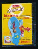 MAGNET, BROSSARD, SAVANE, CARTE DE L´EUROPE : SUEDE (Neuf Sous Plastique) 2 Scans - Tourisme