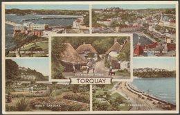 Multiview, Torquay, Devon, 1959 - Valentine's Postcard - Torquay
