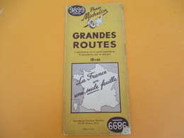 Carte Pneu Michelin/Grandes Routes/Serv.de Tourisme /Ligne De Démarcation/N°98/99/Schneider/Levallois/1942        PGC191 - Roadmaps