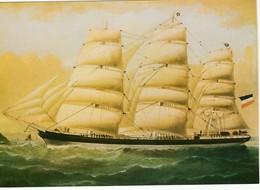 AK Vollschiff Ennerdale Von Rostock 1893 - Karte Nicht Gel. - Voiliers