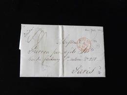 BELLE LETTRE DE NEW YORK POUR PARIS - 1801-1848: Précurseurs XIX