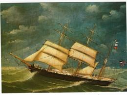 AK Bark Achilles Von Rostock 1872 - Karte Nicht Gel. - Voiliers