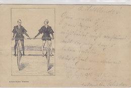 "Radfahrer-Humor - Signiert - Stempel: ""Grafschafter Radfahrer Zu Moers"" - Frühe AK       (180706) - Ilustradores & Fotógrafos"
