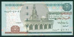 EGYPT / 5 POUNDS / DATE : 25-9-2012 / P- 63(2-2) / PREFIX : 274 / SIG : OKDA / AUNC. - Egypte