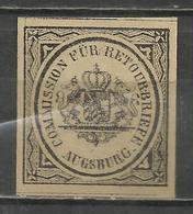 Q693-ALEMANIA SELLO DE DEVOLUCION O RETORNO AÑO 1865 SI APARECE EN CATALOGO YVERT ,ESTE ALEMANIA BAYERN Nº2, - Bavaria