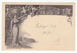 Elena Petrovich Di Montenegro Vittorio Emanuele Di Savoia Wedding Illustrated Postal Stationery Postcard Travelled 1897 - 1878-00 Humbert I