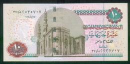 EGYPT / 10 POUNDS / DATE : 17-8-2014 / P- 64 D / PREFIX : 370 / SIG : RAMEZ / UNC. / ISLAM / MOSQUE / ARCHEOLOGY / BIRDS - Egipto