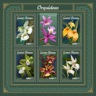 GUINEA BISSAU 2018 MNH** Orchids Orchideen Orchidees M/S - OFFICIAL ISSUE - DH1805 - Orchideen