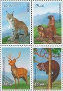 Kyrgyzstan 2017 Fauna Red Book Of Kyrgyzstan Lynx Marten Deer 4v MNH - Postzegels