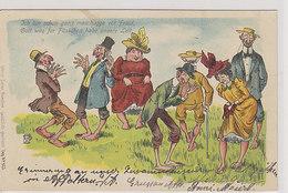 Ich Bin Shon Ganz Meschugge Vor Fraid ....- Litho - 1907        (180706) - Judaisme