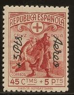 Edifil  768**  LUJO  Cruz Roja Española  45 Céntimos Rojo Aéreo  1938   NL1245 - 1931-Hoy: 2ª República - ... Juan Carlos I