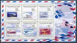 D- [33951] **/Mnh-N° 4534/4539, Guinée -  Le Concorde Dans Les Timbres. - Guinée (1958-...)