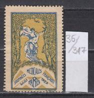 35K317 / JOURNEES MEDICALES , MAI PARIS 1929 FRANCAISES , NUDE WOMAN CINDERELLA LABEL VIGNETTE France Frankreich Francia - Erinnophilie