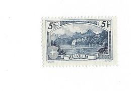 20243 -  Schweiz 1928 Gebirgslandschaften 5 Fr Paysage Rütli Zu N° 178  Avec Attestation - Suisse