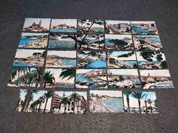 ANTIQUE LOT X 24 SMALL COLOR PHOTOS FRANCE - DIFERENT BEACHS ( TOULON - BANDOL, MARSEILLE AND MORE) - Pellicole Cinematografiche: 35mm-16mm-9,5+8+S8mm