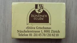 Zündholzschachtel Mit Werbung Für Ein Restaurant In Zürich - Zündholzschachteln