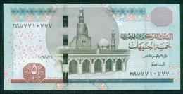 EGYPT / 5 POUNDS / DATE : 26-5-2016 / P- 71(2) / PREFIX : 349 / SIG : AMER / UNC. - Egypte