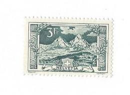 20244 -  Schweiz 1914 3 Fr Vert  Paysage Mythen  Zu N° 129 Côte 1960 CHF  Avec Attestation - Ungebraucht