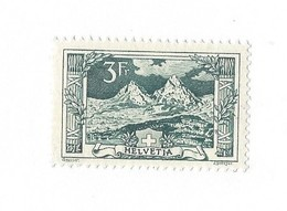 20244 -  Schweiz 1914 3 Fr Vert  Paysage Mythen  Zu N° 129 Côte 1960 CHF  Avec Attestation - Neufs