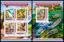 SOLOMON Isl. 2016 - Australian Endangered Sp. - Mi 4135-8 + B579 - Milieubescherming & Klimaat