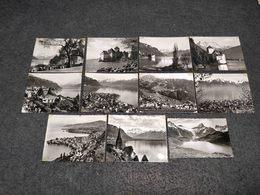 ANTIQUE LOT X 10 SMALL PHOTOS SWITZERLAND - MONTREAUX VIEWS - Filme: 35mm - 16mm - 9,5+8+S8mm