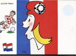 CPM - MONDIAL FRANCE 1998 - CROATIE - Le Coup Franc - Football