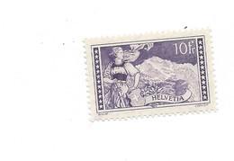 20251 -  Schweiz 1914 10 Fr Violet Foncé  Paysage Helvetia Jungfrau Zu N° 131  Avec Attestation - Suisse