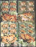 L372 2014 AITUTAKI WWF FAUNA FISH & MARINE LIFE SPOTTED REEF CRABS !!! MICHEL 46 EURO !!! 4KB MNH - Other
