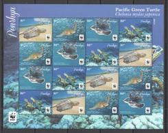 L375 2014 PENRHYN WWF FAUNA REPTILES MARINE LIFE PACIFIC GREEN TURTLE !!! MICHEL 58 EURO !!! 1SH MNH - Other
