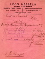 Afrekening / Wissel En Openbare Fondsen / Leon Hessels 5 Janvrir 1912 - Lettres De Change