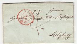 Switzerland, Letter Travelled 1847 Bern Pmk B180710 - 1843-1852 Kantonalmarken Und Bundesmarken