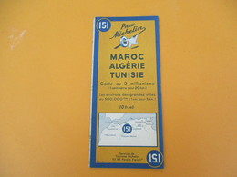 Carte Pneu Michelin/Maroc Algérie Tunisie/Carte Au 2 Millionième/ N°151/Schneider Et Mary/Levallois/1942        PGC192 - Cartes Routières