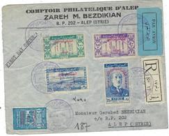 Lettre De Syrie, En Recommandé, FDC Par Avion Le 31 / 8 / 1946 Pour Alep - Syrie