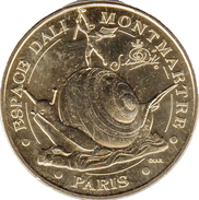 75018 PARIS MUSÉE DALI N°3 L'ESCARGOT MÉDAILLE MONNAIE DE PARIS 2013 JETON MEDALS TOKEN COINS - Monnaie De Paris