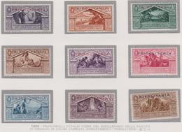 Tripolitania 1930 Virgilio 78/86+P.A.4  MH - Tripolitania